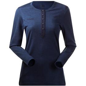 Bergans Henley Wool Shirt Dam navy mel